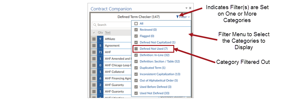 Using Contract Companion 70 And Laterdefined Term Checker Add In